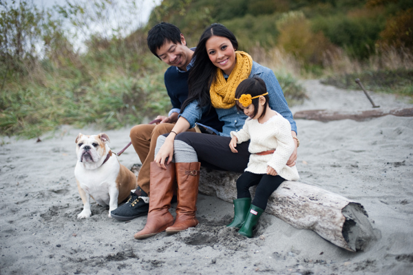 Cute Family with Dog by Sally Honeycutt