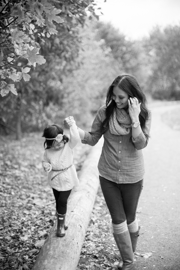 Mother & Daughter Black & White by Sea Studio Photography